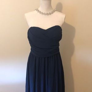 Lulus Strapless Navy gown